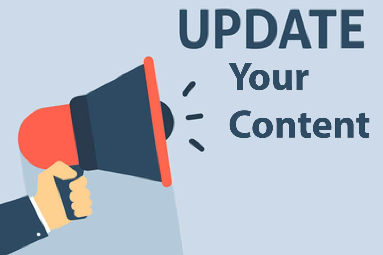 update website content