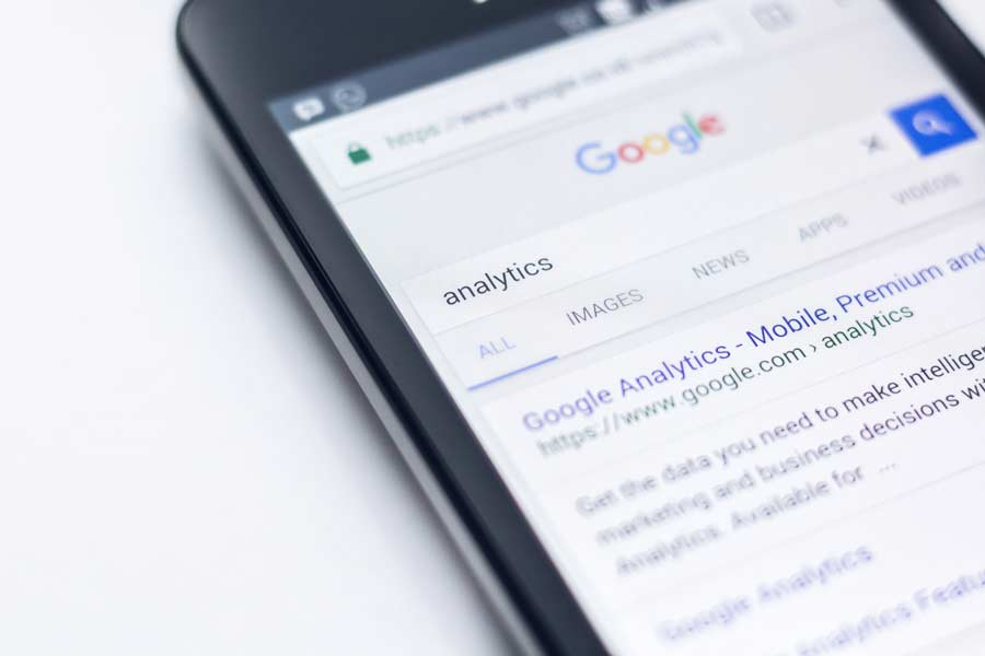 a shots from google serp for analytics query